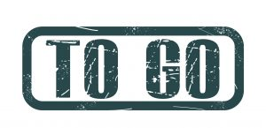 "Grafik mit dem Text ""to go"""